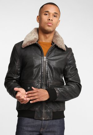 GBBRANY NSLAV W - Leather jacket - black antique