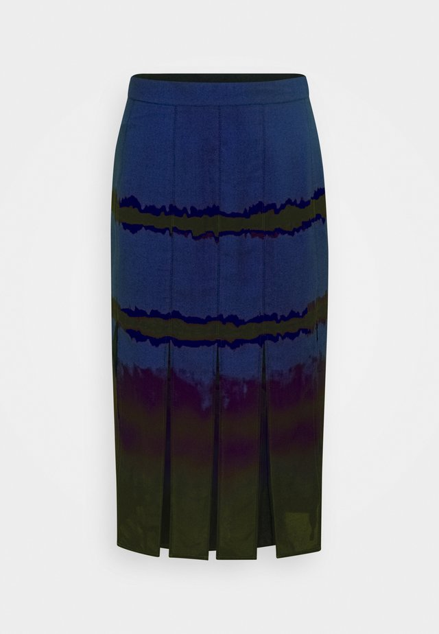 SLIT SKIRT - Gonna a campana - blue tie dye