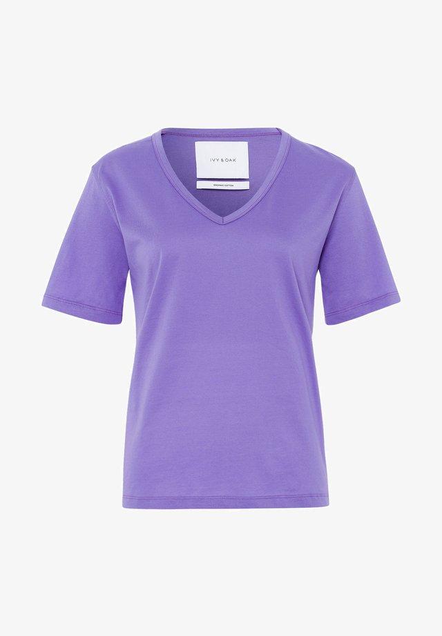 V NECK - T-shirt basic - purple