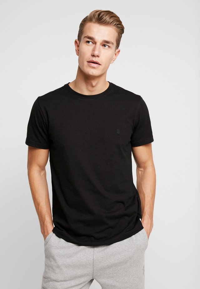 CHEST LOGO BASIC TEE  - T-shirts - black