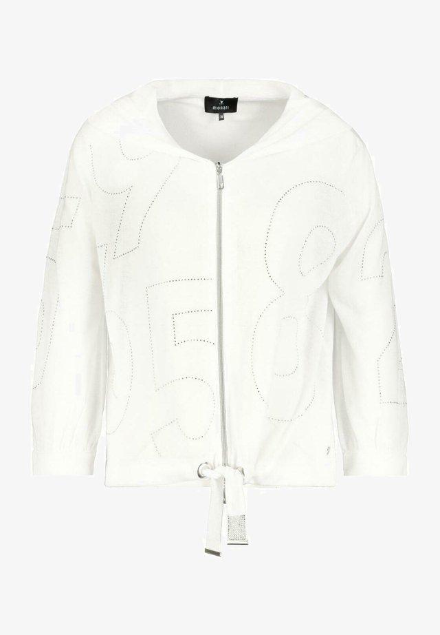 MIT KAPUZE   - Zip-up sweatshirt - white