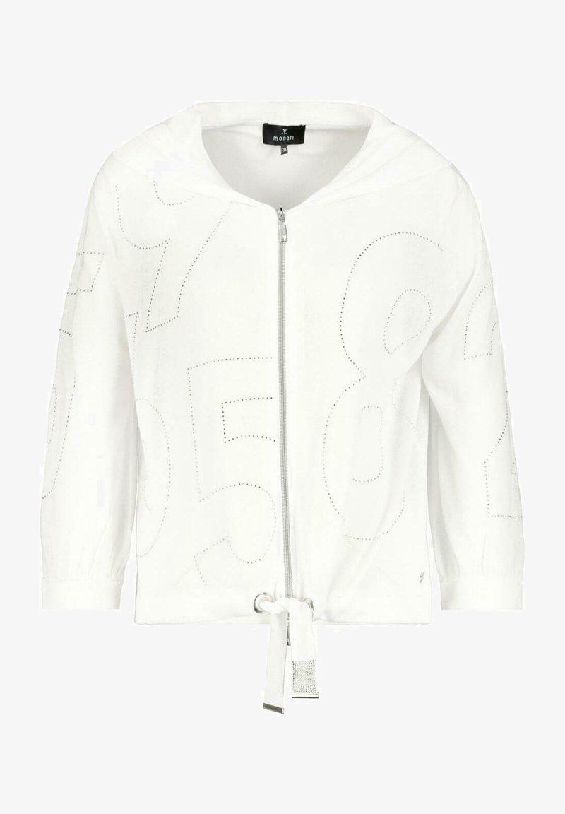 Monari - MIT KAPUZE   - Zip-up sweatshirt - white
