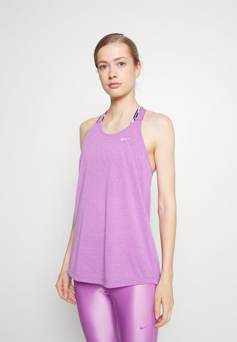 Nike Performance - DRY ELASTIKA TANK - Treningsskjorter - violet shock heather/white