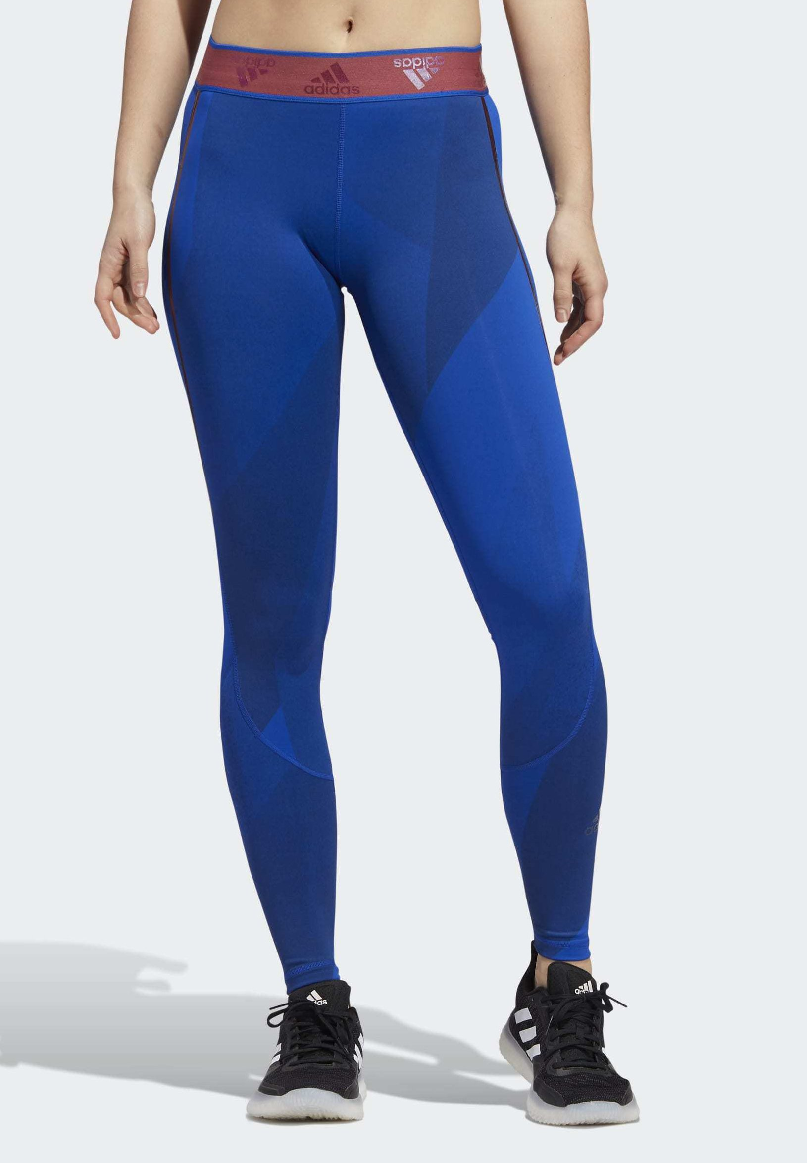 Amazing Price Women's Clothing adidas Performance ALPHASKIN GRAPHIC LONG LEGGINGS Leggings blue ajMwh8wq8