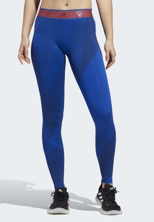 ALPHASKIN GRAPHIC LONG LEGGINGS - Leggings - blue