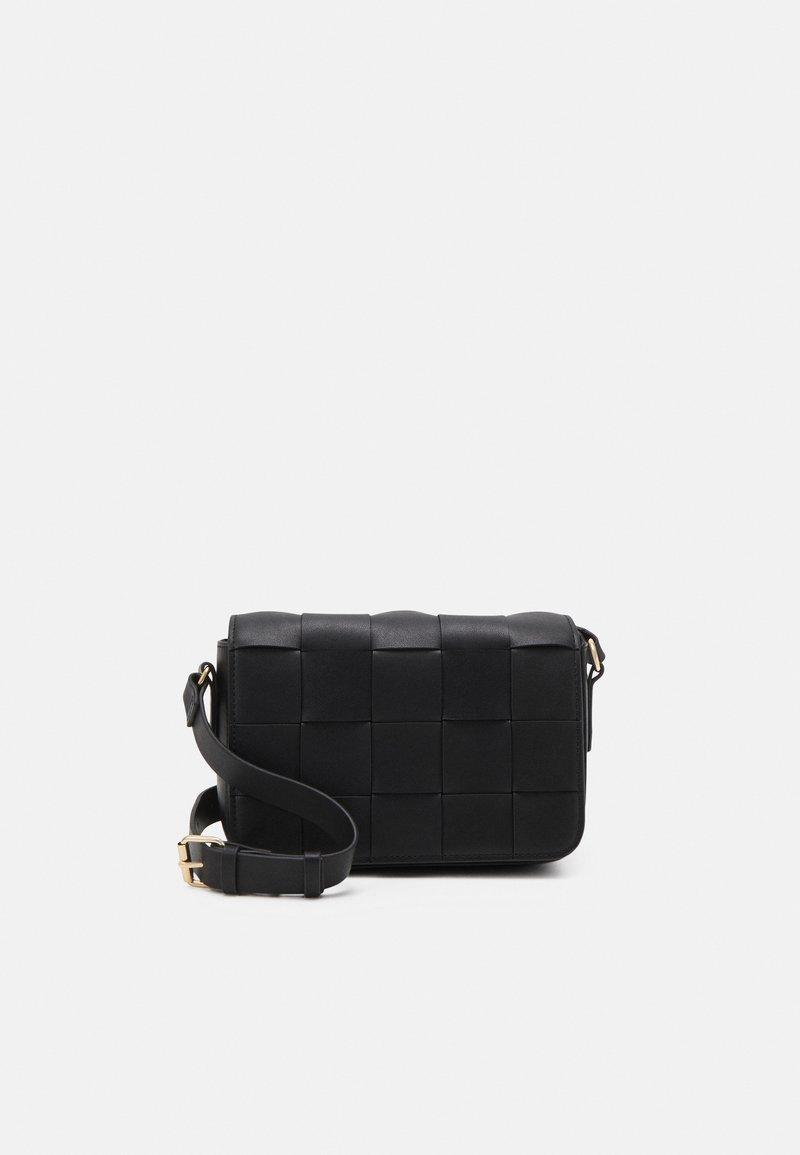 Lindex - BAG CROSS BODY BRAIDED - Across body bag - black