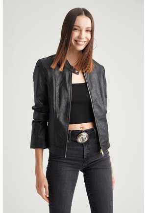 Veste en similicuir - black