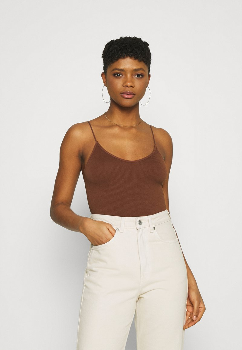 BDG Urban Outfitters - BUNGEE STRAP BODY THONG SNAP - Toppi - brunette