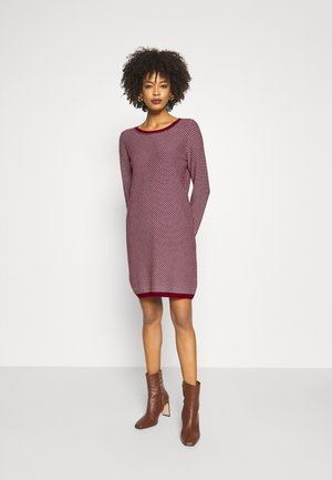 STITCH - Jumper dress - bordeaux red