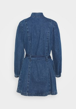 LADIES DRESS - Denim dress - dark stonewash