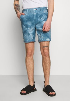 MENS STANDARD FIT - Denim shorts - light blue denim