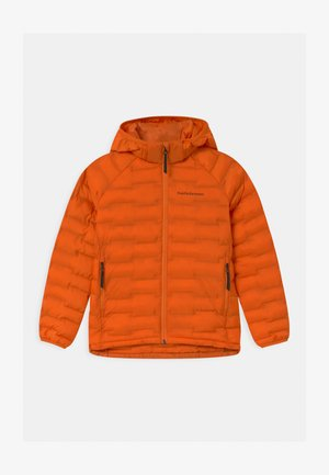 JUNIOR ARGON LIGHT HOOD UNISEX - Zimní bunda - orange altitude