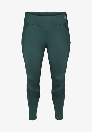 CROPPED, TEXTURED - Leggings - green