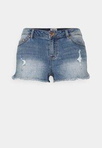 ONLY - ONLCARMEN LIFE - Denim shorts - medium blue denim - 0