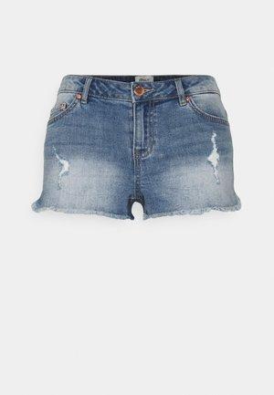 ONLCARMEN LIFE - Denim shorts - medium blue denim