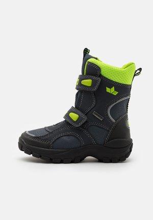 SAMUEL - Winter boots - marine/schwarz/lemon