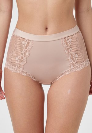 BLACK HIGH RISE LACE KNICKERS - Pants - pink