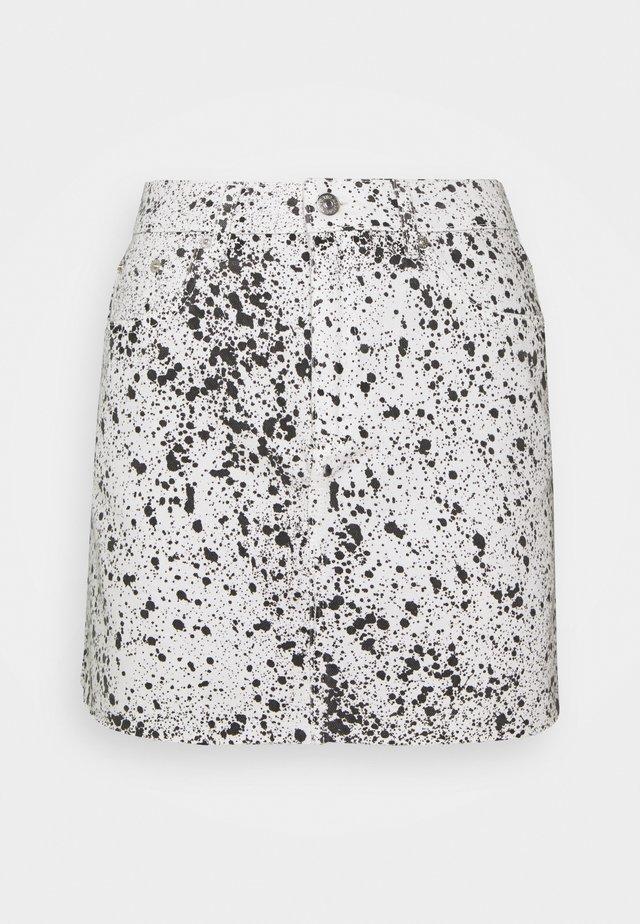 SKIRT - Minijupe - black/white
