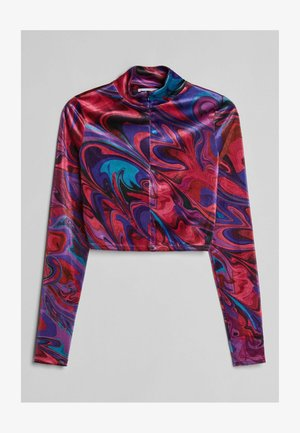 BEDRUCKTES - Long sleeved top - neon pink