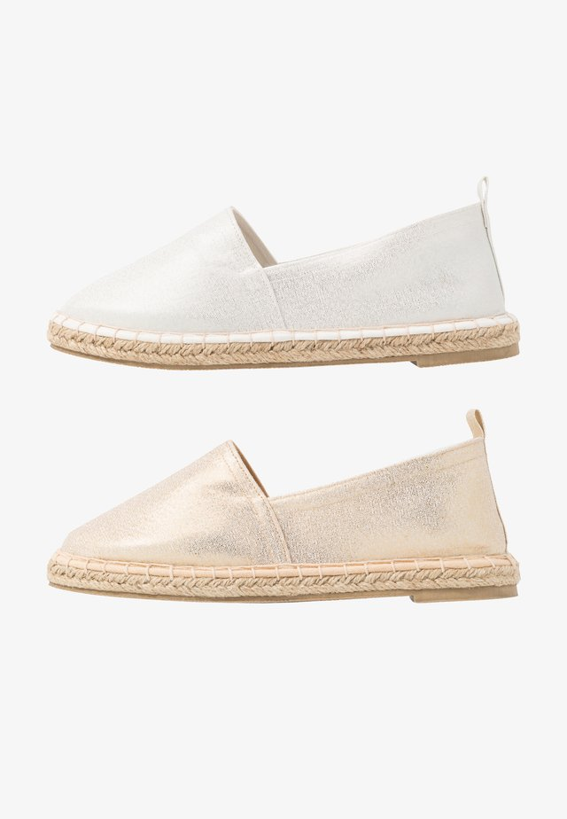 2 PACK  - Espadrilles - gold/silver