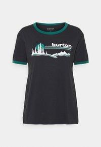Burton - CARLOW TEE - T-shirts med print - true black - 0