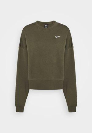 CREW TREND - Sweatshirt - khaki/white