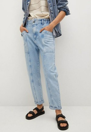 ANGELA - Slim fit jeans - light blue