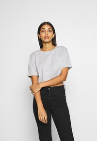 Even&Odd - T-shirt print - mottled light grey - 0