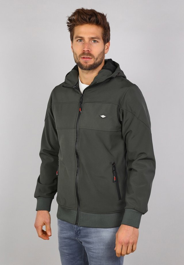 veste en sweat zippée - army