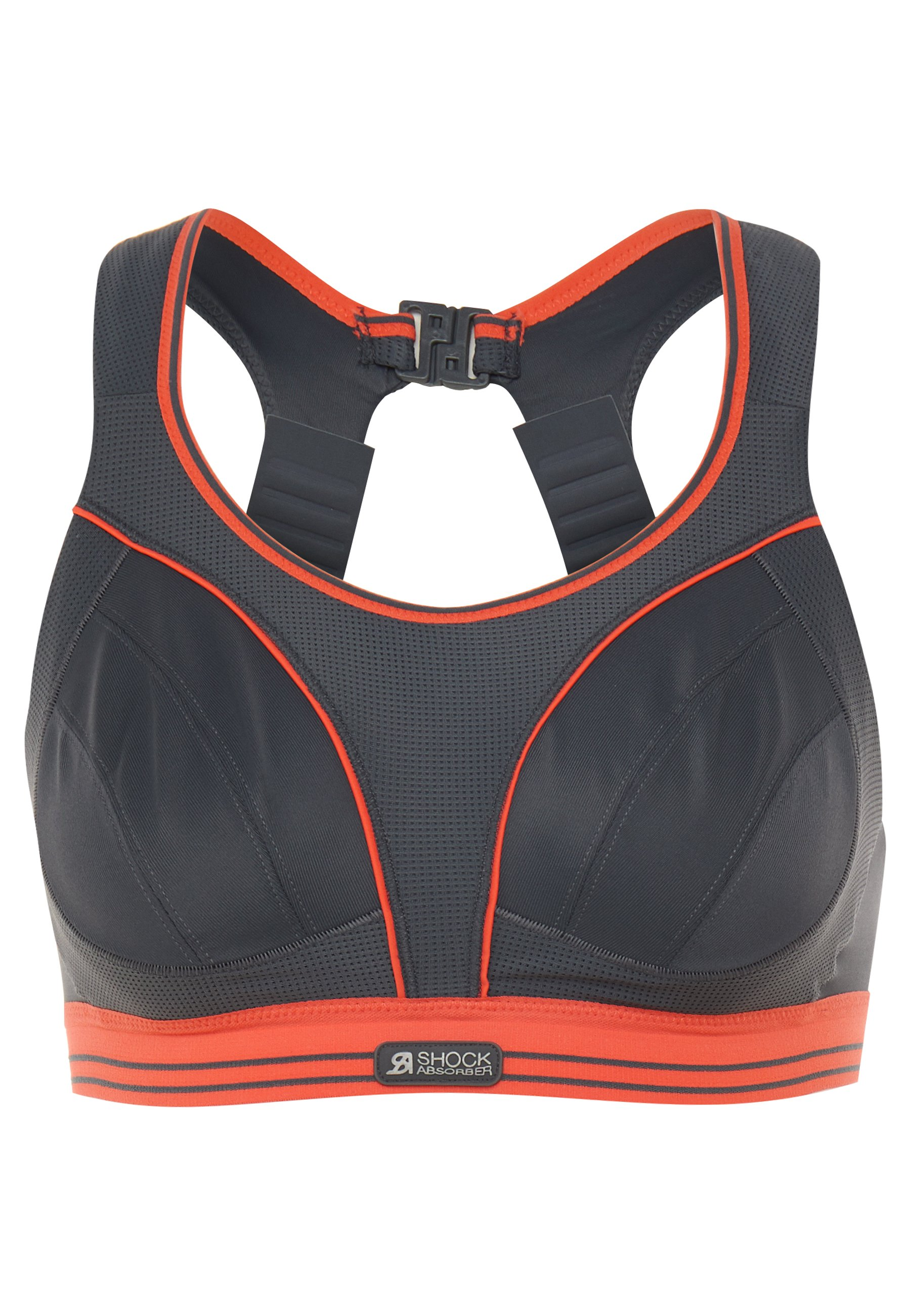 Shock Absorber ULTIMATE RUN - Sujetador deportivo - grau/orange ZX3Pb