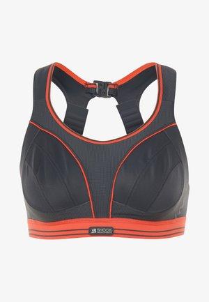 ULTIMATE RUN - Sports bra - grau/orange