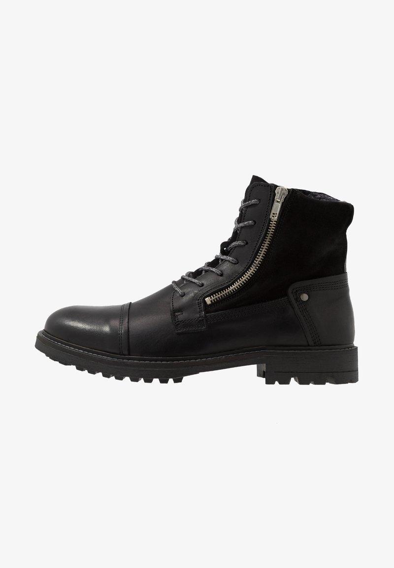 Steve Madden - Šněrovací kotníkové boty - black
