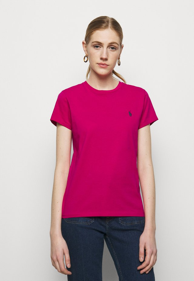 Jednoduché triko - sport pink