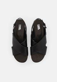 KARL LAGERFELD - K-BLOK WEDGE KROSS STRAP SLING - Sandalias con plataforma - black - 4