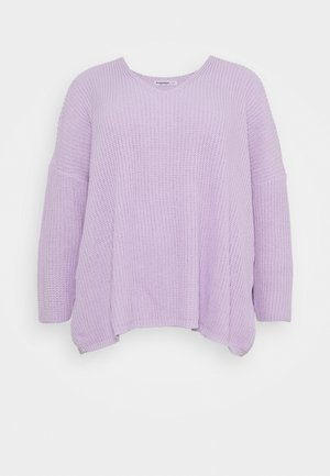 V NECK JUMPER - Strikkegenser - lilac