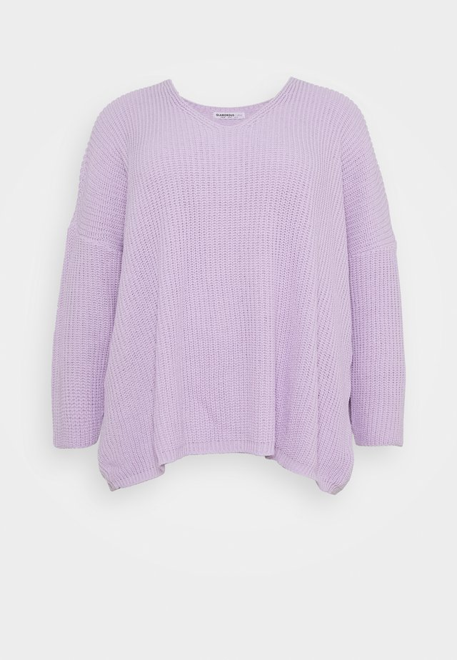V NECK JUMPER - Trui - lilac