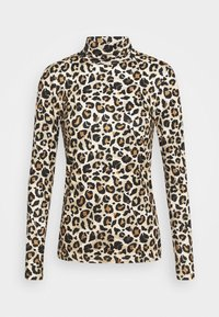 Pieces - PCNALA TURTLE NECK - Long sleeved top - natural - 5