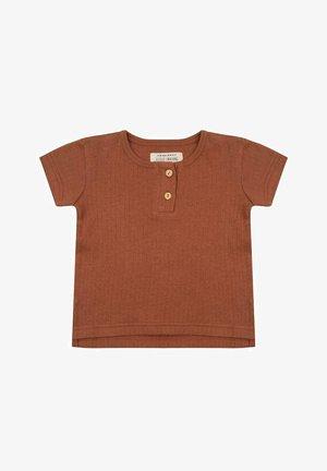 T-shirt basic - amber brown