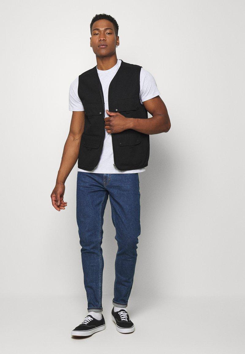 Topman - 7 PACK - Camiseta básica - mottled grey/khaki/blue