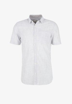 HEMD KURZARM - Formal shirt - grey melange stripes