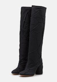 MM6 Maison Margiela - CRUSHED STIVALE TUBO STROPICCIATO - High heeled boots - black - 2