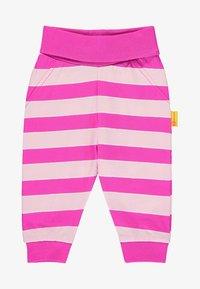 Steiff Collection - MIT STREIFEN UND TEDDYBÄRMOTIV - Tracksuit bottoms - pink - 0