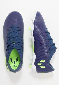 adidas Performance - NEMEZIZ MESSI 19.3 FG - Moulded stud football boots - tech indigo/signal green/glow purple - 0