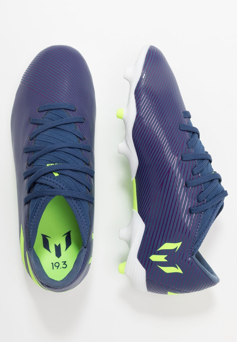 adidas Performance - NEMEZIZ MESSI 19.3 FG - Moulded stud football boots - tech indigo/signal green/glow purple