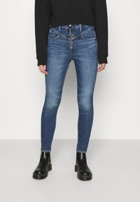 Calvin Klein Jeans - HIGH RISE  - Jeans Skinny Fit - mid blue - 0