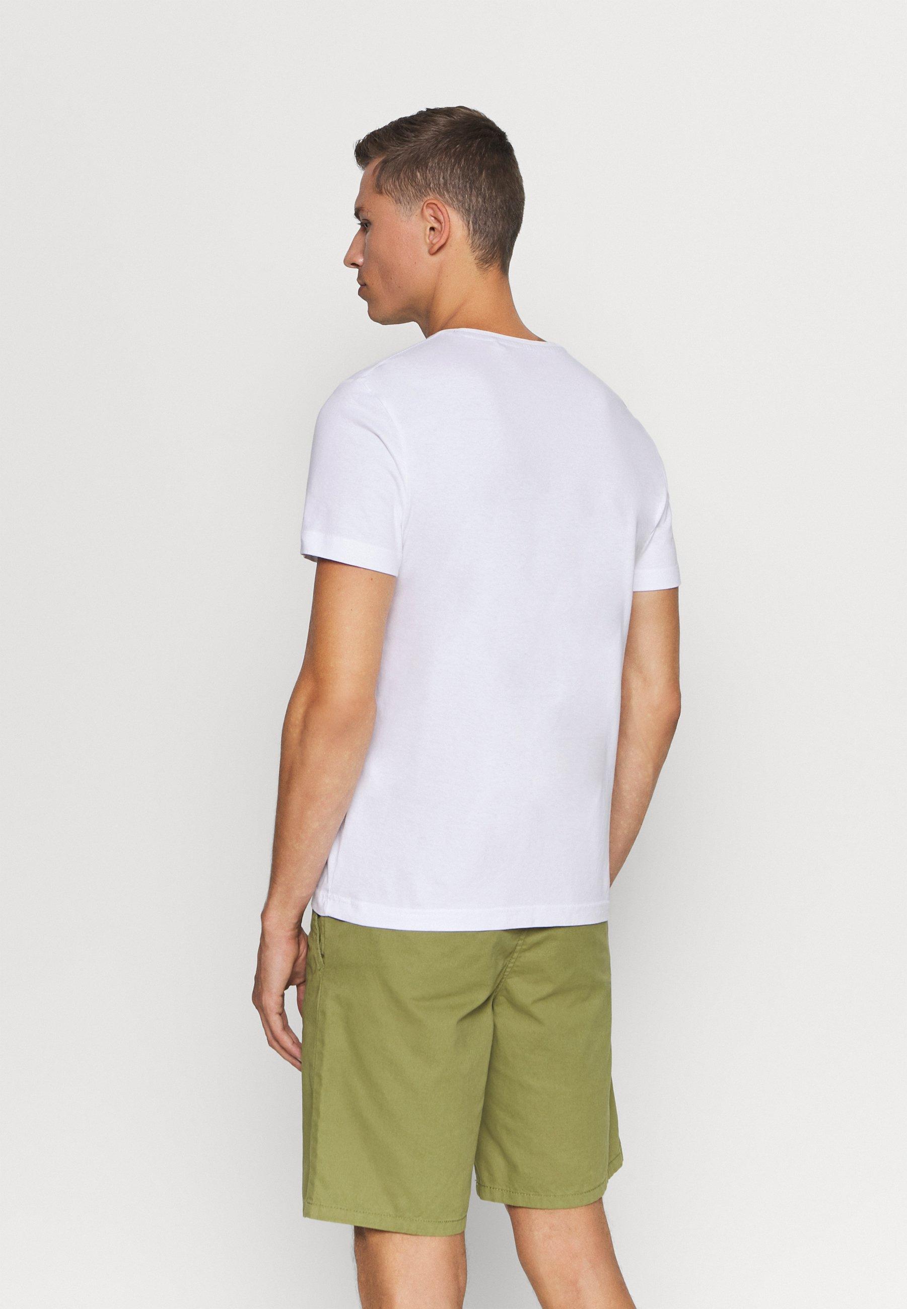 s.Oliver KURZARM - Print T-shirt - white zCk8T