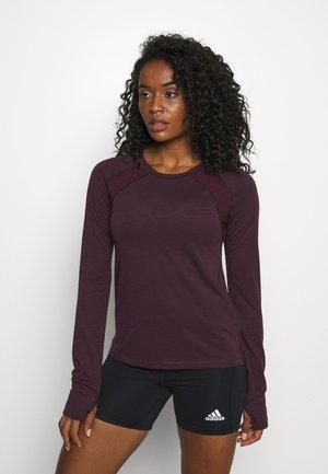BREEZE RUNNING LONG SLEEVE - Sports shirt - plum red