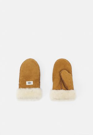 MITTEN WITH STITCH UNISEX - Manoplas - chestnut