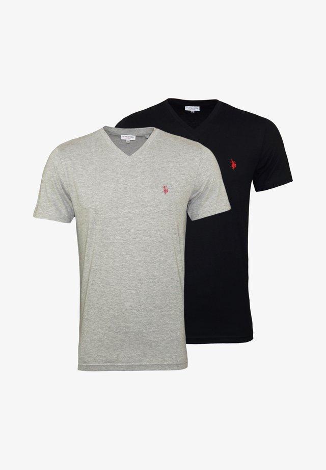 2 PACK - T-shirt basique - black grey