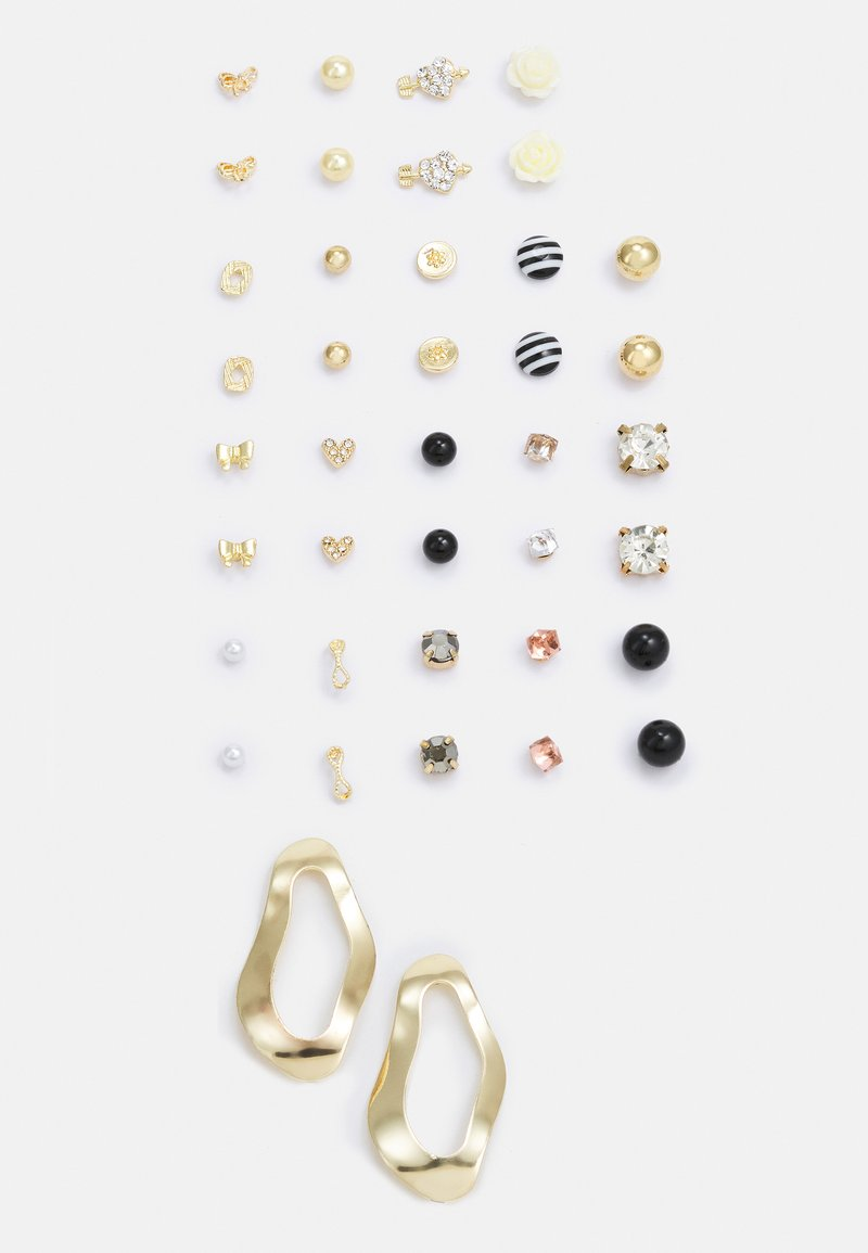 Pieces - PCQAMAR EARSTUDS 20 PACK - Earrings - gold-coloured